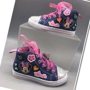 Disney Minnie Mouse high-Top Sneakers Sizes  10&11